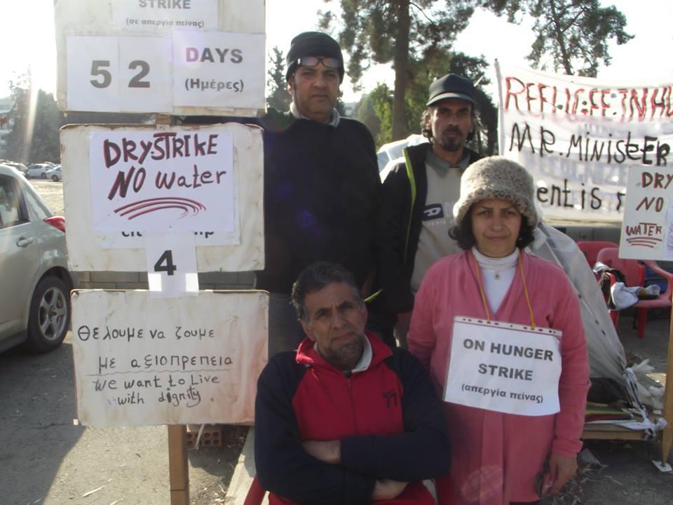 Οι αναγνωρισμένοι πρόσφυγες λύνουν την απεργία πείνας μετά από δεσμεύσεις του Υπουργού Εσωτερικών, στην παρουσία του Επικεφαλή της UNHCR στην Κύπρο
