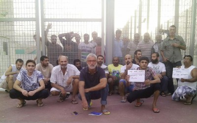 The protest by the hunger strikers in Menoyia escalates