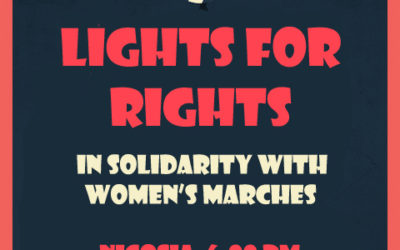 """Lights for Rights"" – in solidarity with Women's Marches"