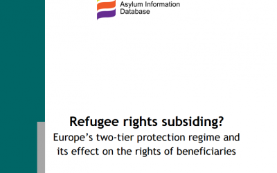 Refugee rights subsiding? Europe's two-tier protection regime and its effect on the rights of beneficiaries