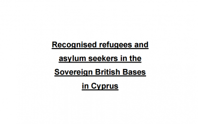Recognised refugees and asylum seekers in the Sovereign British Bases in Cyprus